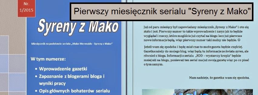 """Pierwszy miesięcznik serialu """"Syreny z Mako"""""""