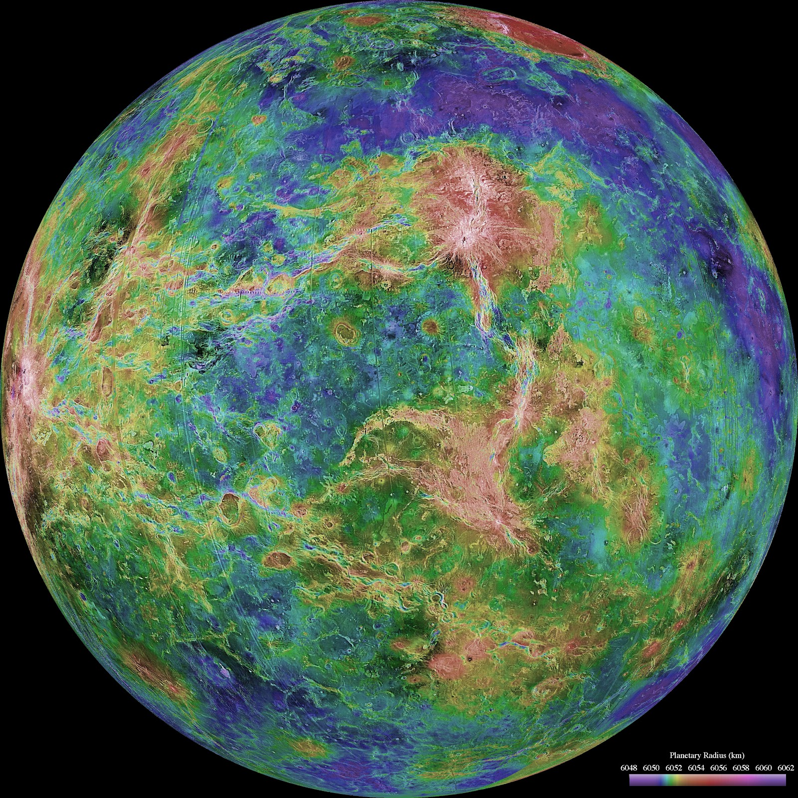 Ministry Of Space Exploration Radar Map Of Venus