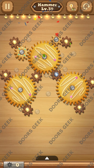 Fix it: Gear Puzzle [Hammer] Level 39 Solution, Cheats, Walkthrough for Android, iPhone, iPad and iPod