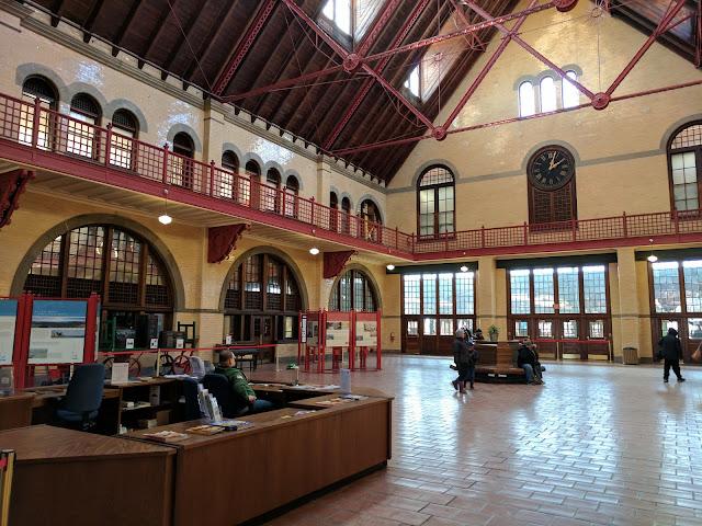Залізнична станція Центральної Залізної дороги Нью-Джерсі, Джерсі-Сіті, Нью-Джерсі(Central Railroad of New Jersey Terminal, Jersey City, NJ)