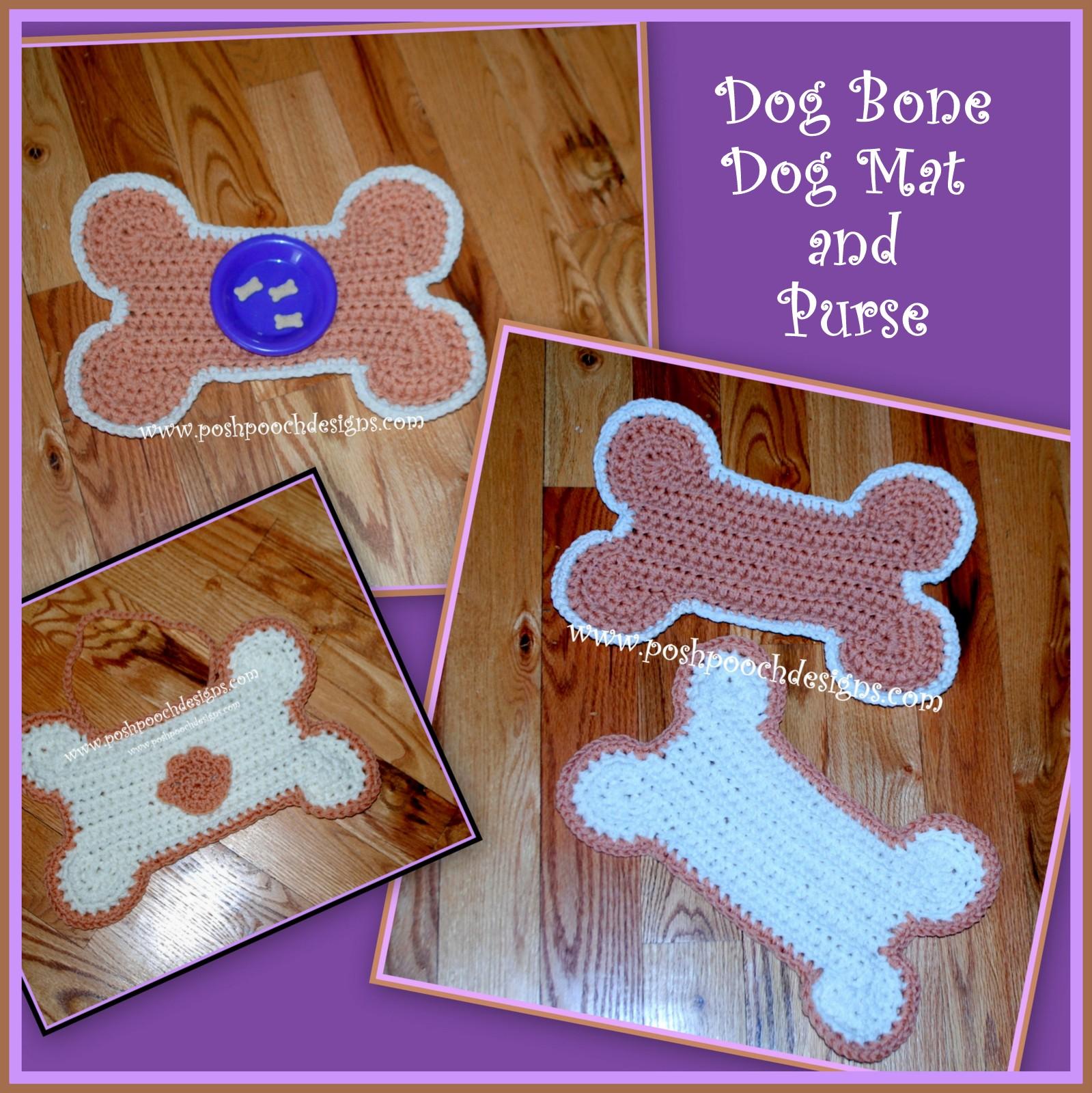 Posh Pooch Designs Dog Clothes: Dog Bone Mat and Poo Bag ...