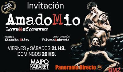 #Concurso por un par de entradas para ver Amado Mio en el Teatro Maipo