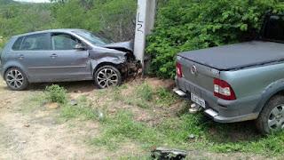 Acidente envolvendo dois veículos é registrado na PB 137 próximo a Picuí-PB