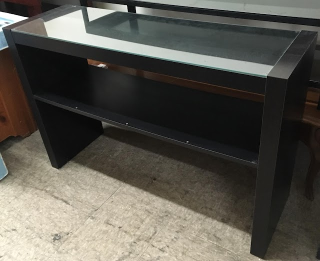 Glass Top TV Stand - $65