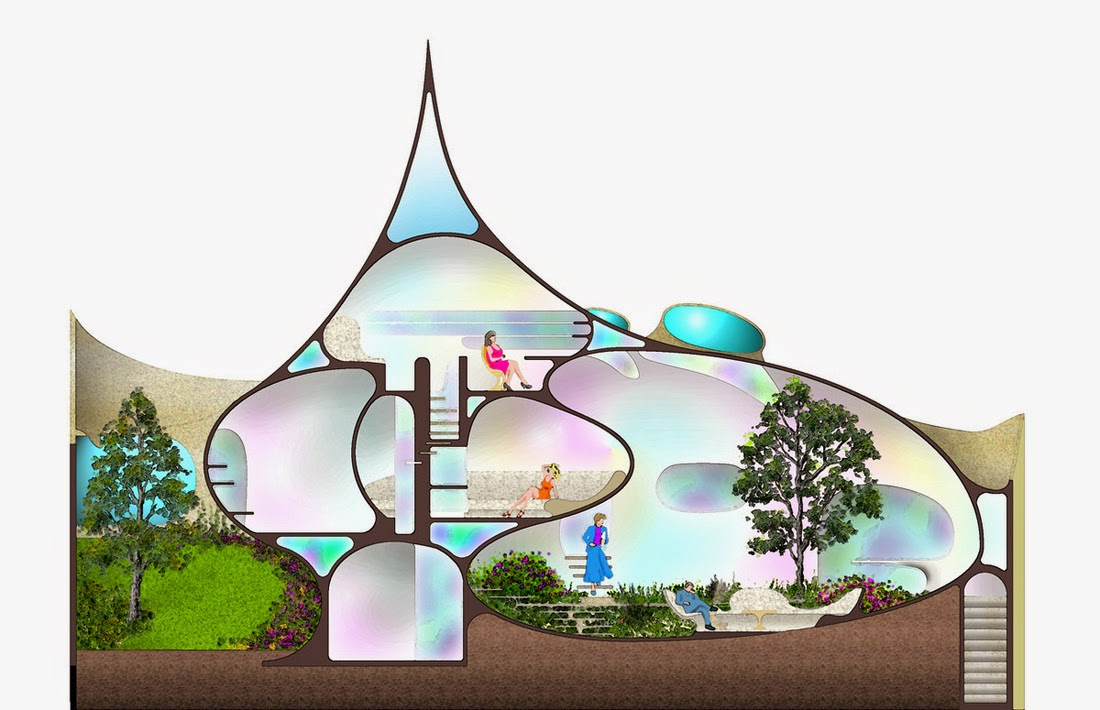 Mysansar shell house or nautilus by architect javier for Nautilus garden designs