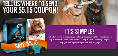 $5.15 Off One Package of Purina Pro Plan Dog/Cat Food ...
