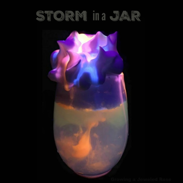 STORM IN A JAR:  learn all about weather with this fun & magical experiment for kids