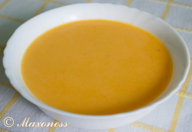 Морковный крем-суп с плавленным сыром