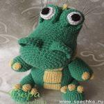 patron gratis cocodrilo amigurumi | free amigurumi pattern crocodile