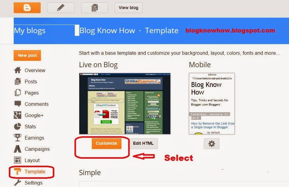 How to Change the Blog Description Font Color in Blogger | Blog Know How