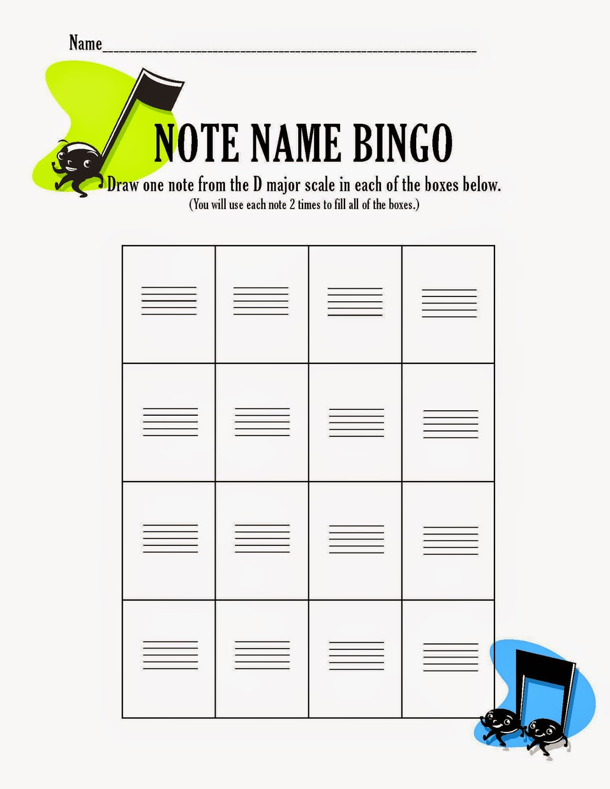 Orchestra Classroom Ideas Note Name Note Reading Review Game