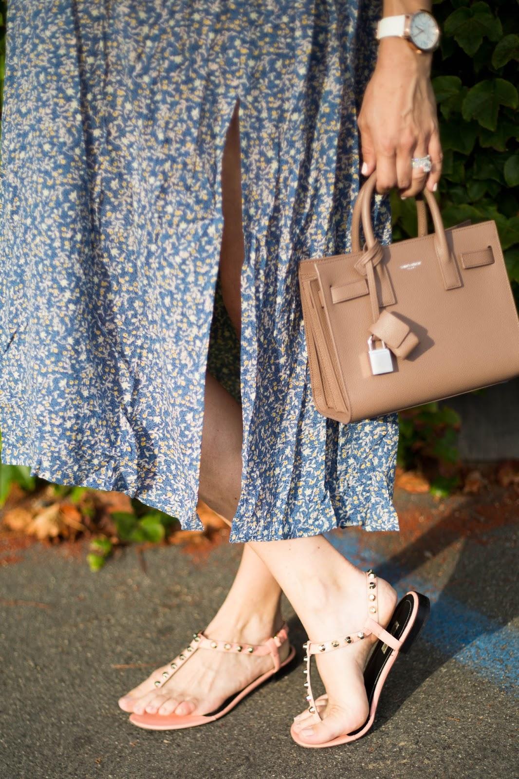 blush saint laurent bag