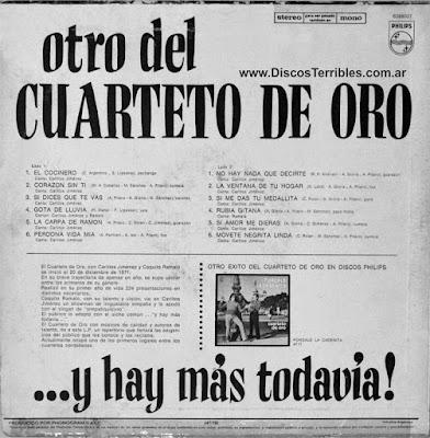 Cuarteto de Oro - Y hay más todavía / Discos Terribles