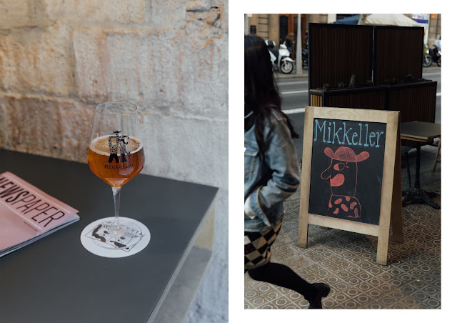 mikkeller craft beer bar interior in barcelona ipa