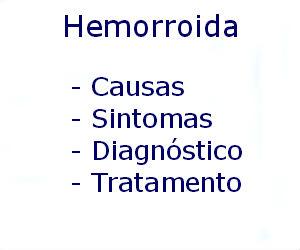 Hemorroida causas sintomas diagnóstico tratamento prevenção riscos complicações