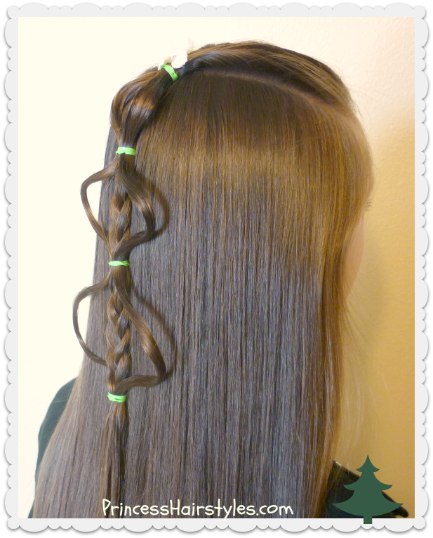 Cute Christmas Tree Braid Hairstyle Tutorial