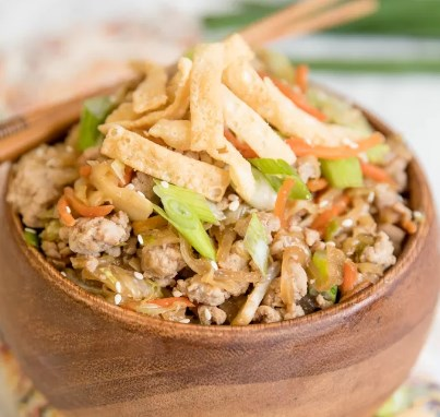 ONE PAN EGG ROLL IN A BOWL (CRACK SLAW)