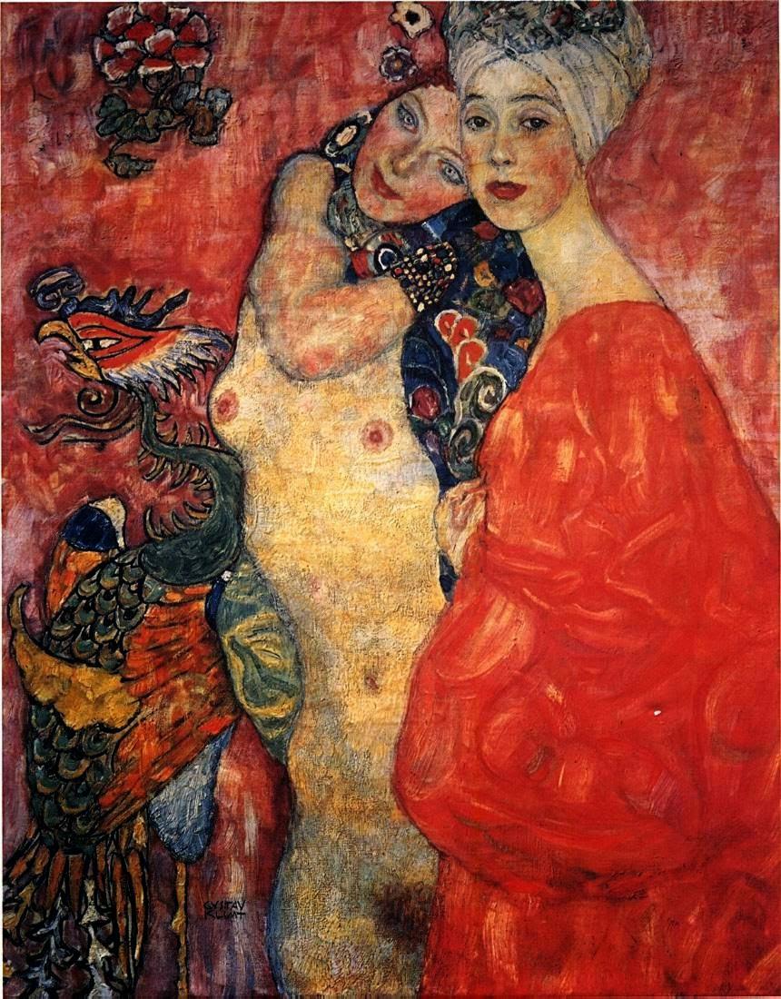 Namoradas - Gustav Klimt e suas pinturas ~ Pintor simbolista austríaco