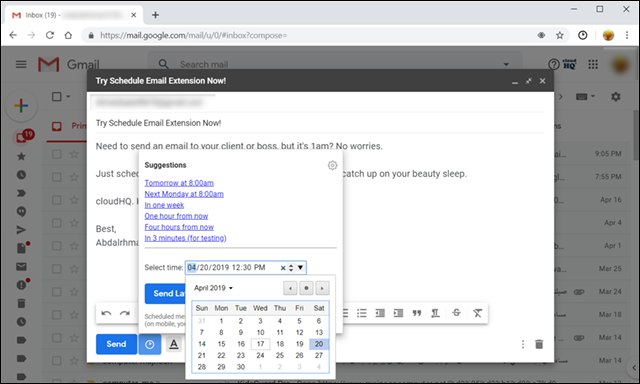 جدولة رسائل Gmail لإرسالها في وقت محدد على الكمبيوتر أو الهاتف 1