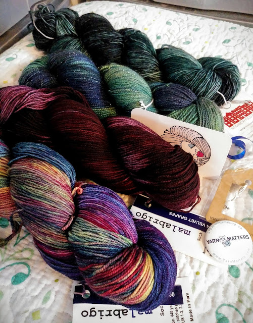 Yarn fumes!  Malabrigo, Tempting Ewe Yarns and Neighborhood Fiber Co.