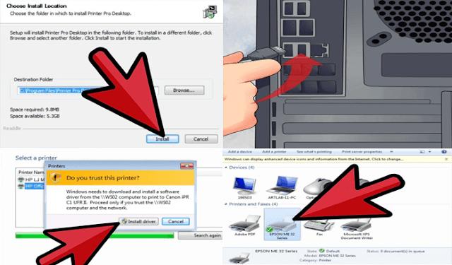 Cara Menyambungkan Printer Ke Komputer