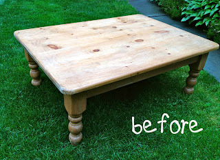 dingy pine coffee table