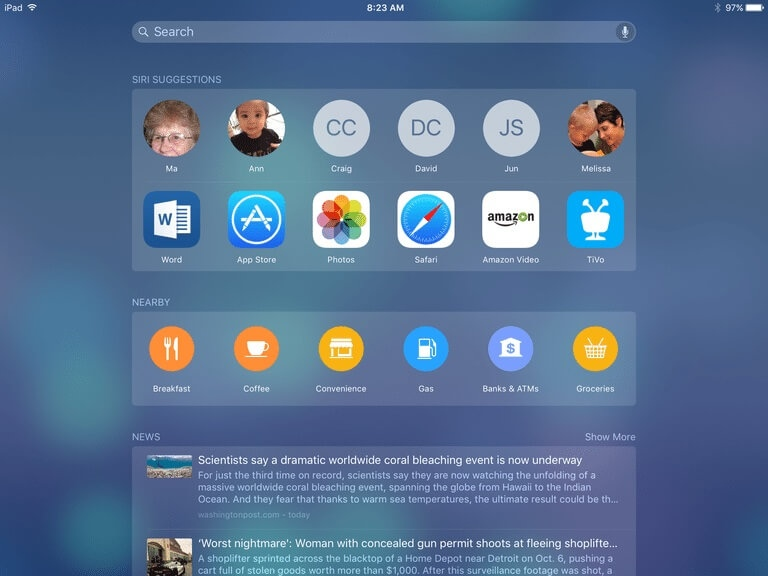 Spotlight Search di iPad