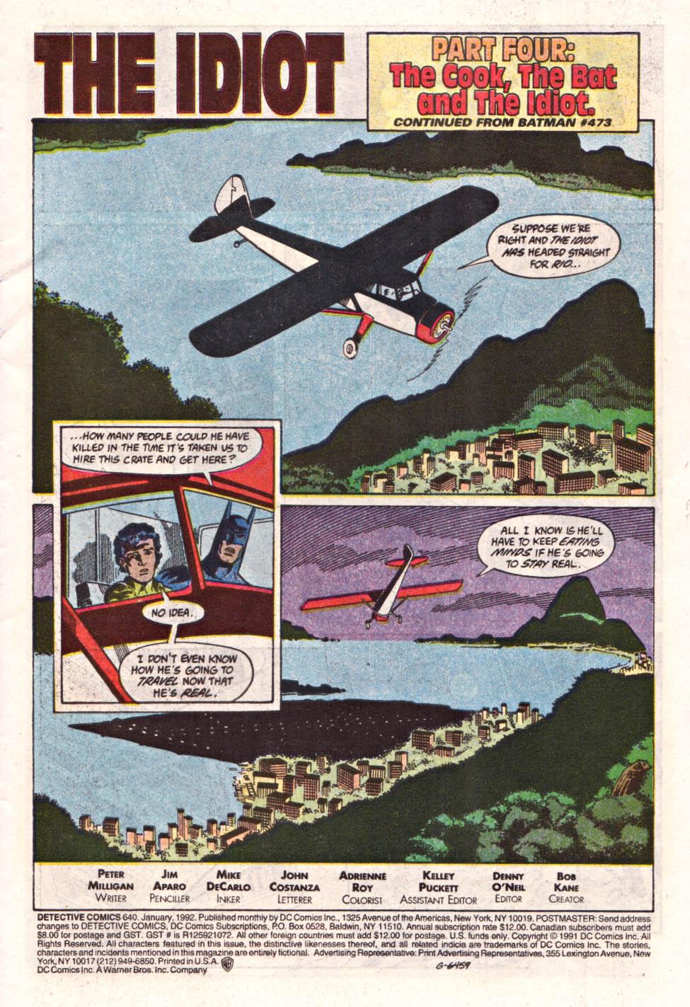 Detective Comics (1937) 640 Page 1