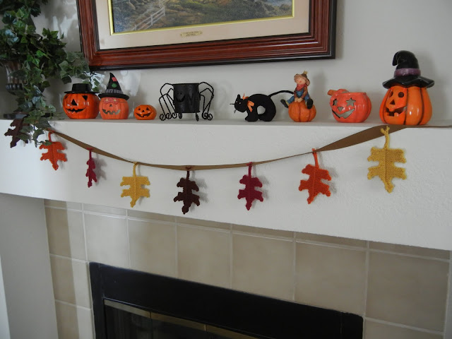 Happy Halloween Holiday Fireplace Decorations Banners Pumpkins
