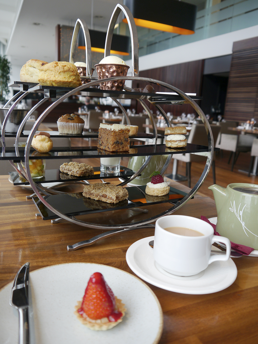Gluten free and vegetarian afternoon tea at Apex Hotels dundee