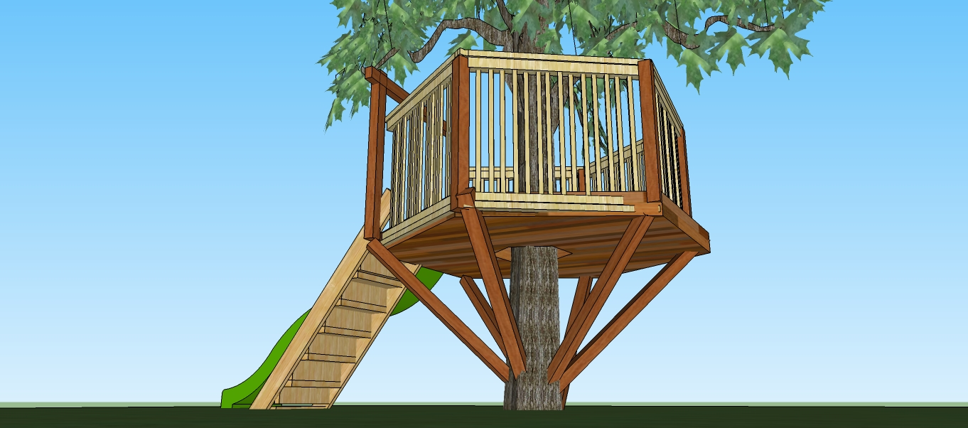 Natural State Treehouses Inc Hexagon Tree Fort