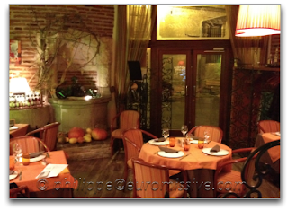 Aperçu de la salle principales du restaurant Le Lautrec à Albi, Tarn