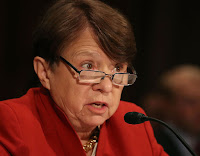 SEC Chair Mary Jo White would not confirm her agency is investigating Exxon, so she will not provide documents demanded by House Science committee chair Rep. Lamar Smith. (Credit: Getty Images) Click to Enlarge.
