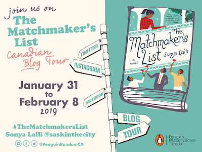 The Matchmaker's List Blog Tour graphic