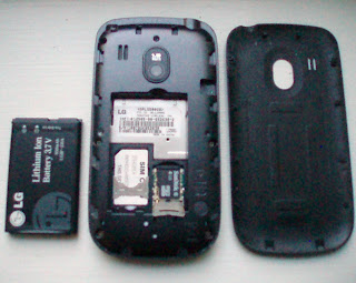 LG 500g back cover and battery removed