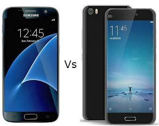 Galaxy S7 vs Xiomi Mi 5