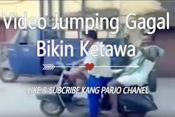 Gaya Sok-sokan Jumping Motor, Akhirnya Jatuh Juga Ngakak