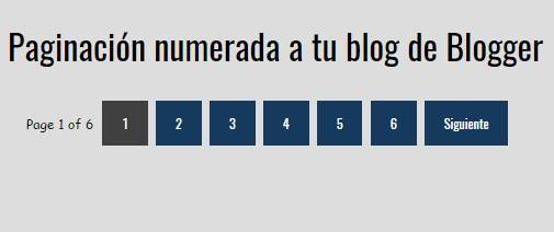 Cómo agregar una paginación numerada en blog de Blogger
