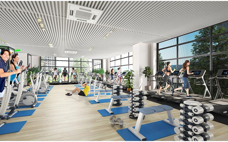 Phòng tập gym theo tiêu chuẩn 5 sao tại Housinco Premium