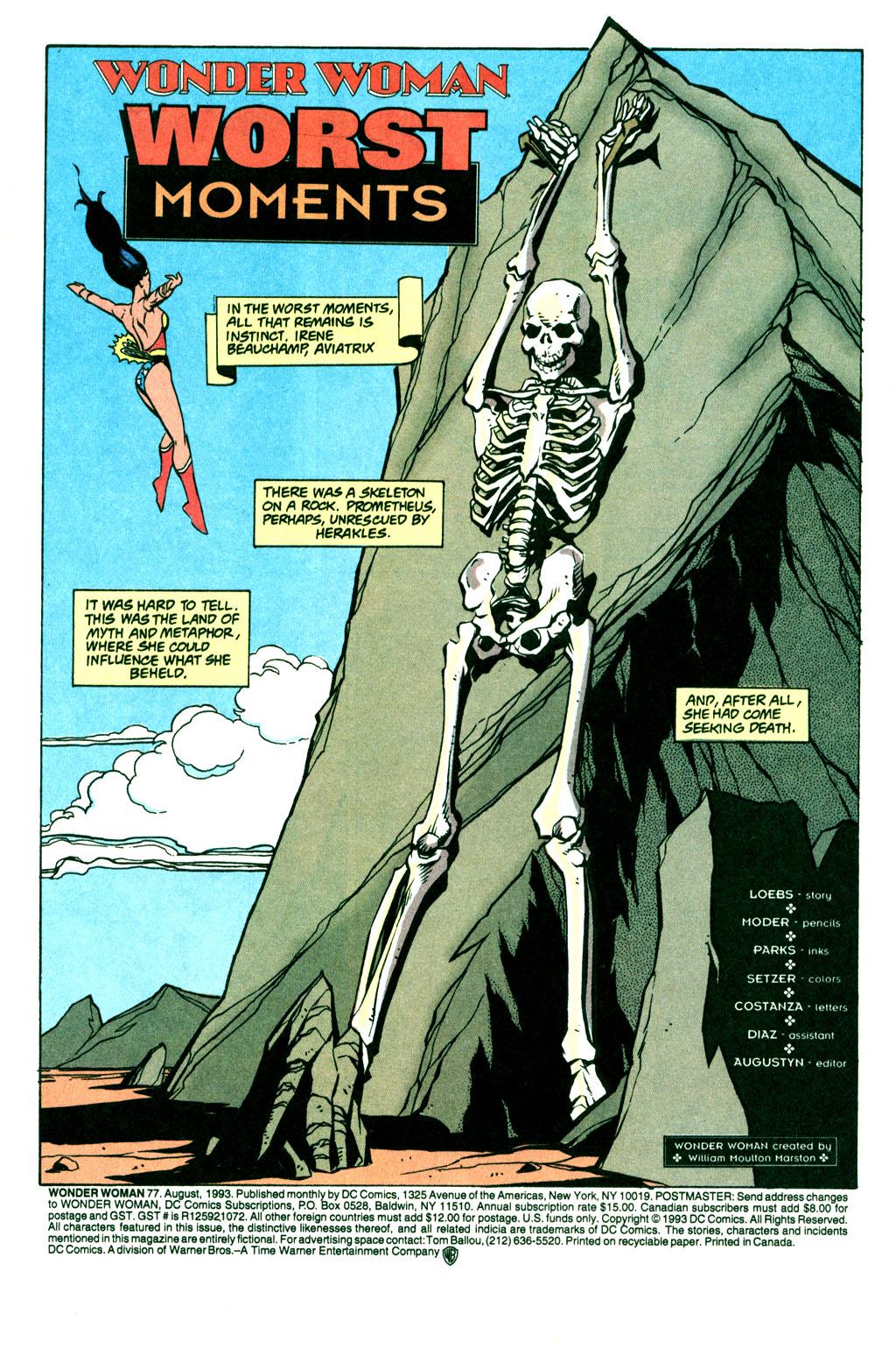 Read online Wonder Woman (1987) comic -  Issue #77 - 2