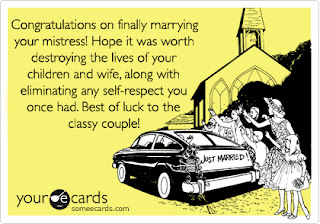 Marrying your affair partner card cheater paramour