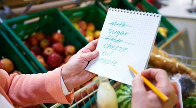 Membuat daftar kebutuhan belanja