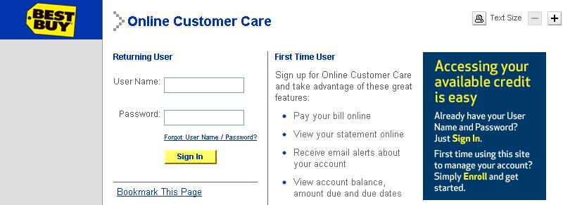 Online Application: Best Buy HSBC Credit Card Rewards