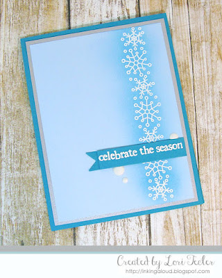 Celebrate the Season card-designed by Lori Tecler/Inking Aloud-stamps and dies from Papertrey Ink