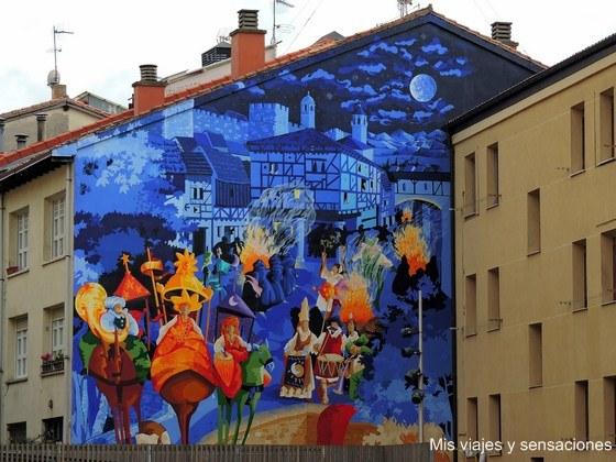 La noche más corta, murales de Vitoria, País Vasco