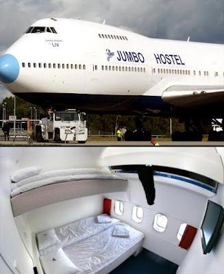 Diseño de hotel en avión fuera de lo común