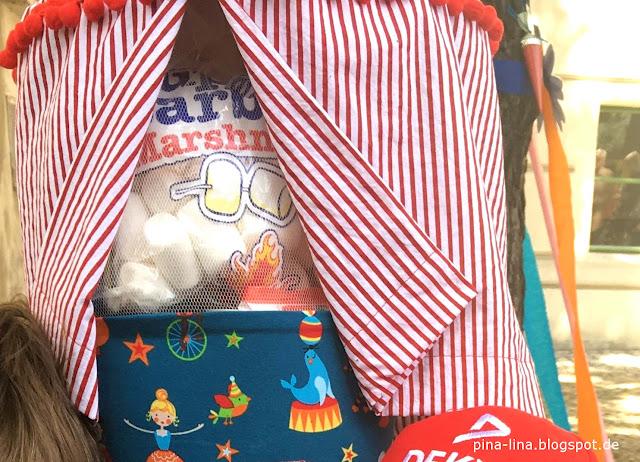Schultüte mit Zirkuszelt, selbstgenäht