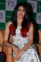 Bollywood Actress Adah Sharma Pos in White Printed Short Dress at OPPO F3 Plus Selfie Expert Mobile Launch .COM 0027.jpg