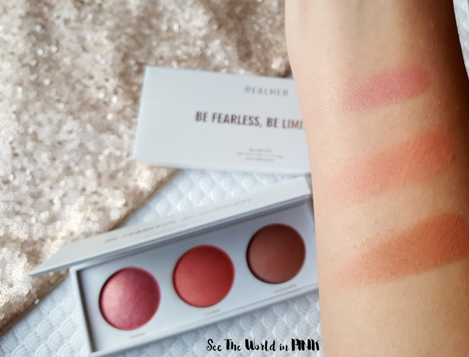 December 2017 Boxycharm - RealHer Be Fearless Blush Kit