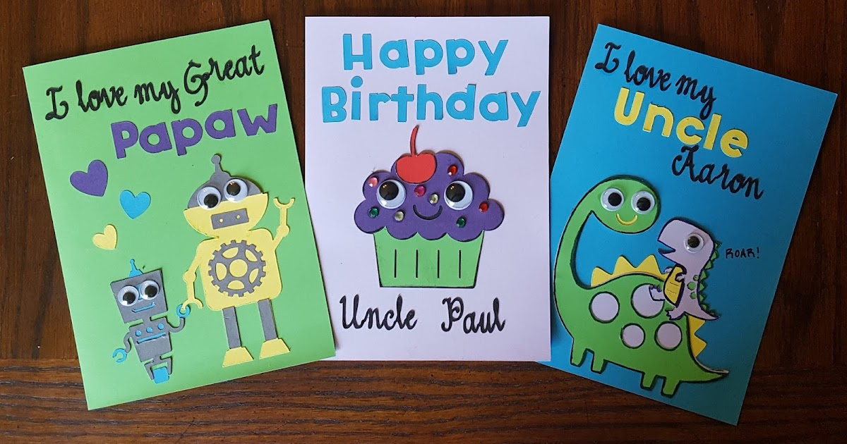Cut N Edge Crafts Cards From Kids